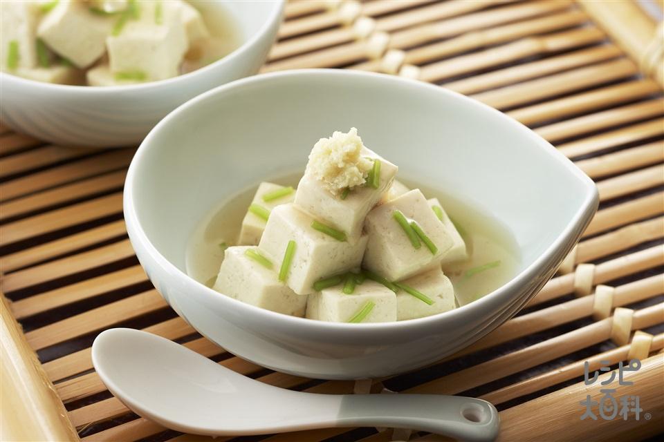 コロコロ煮やっこ(木綿豆腐+しょうがのすりおろしを使ったレシピ)