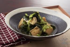 青菜と油揚げのひたひた煮