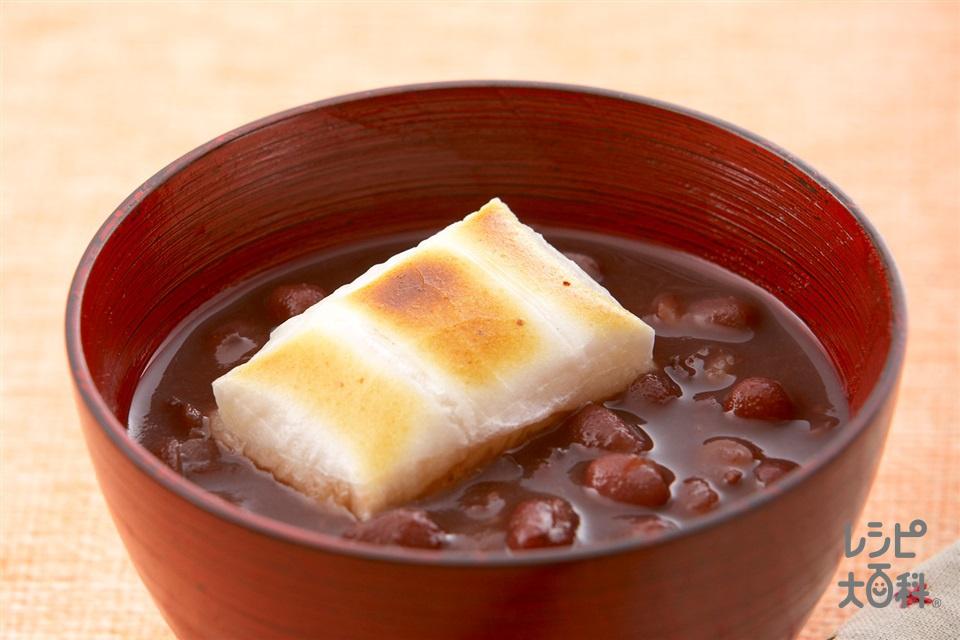 ヘルシーしるこ(あずき(乾)+餅を使ったレシピ)