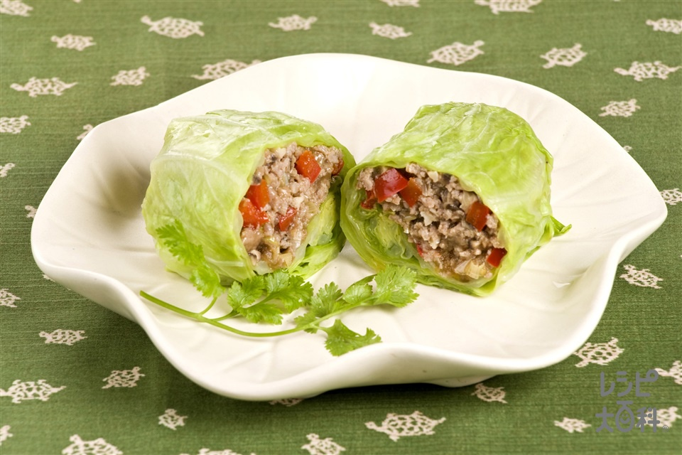 オイマヨ炒肉のキャベツ巻き(キャベツ+豚ひき肉を使ったレシピ)