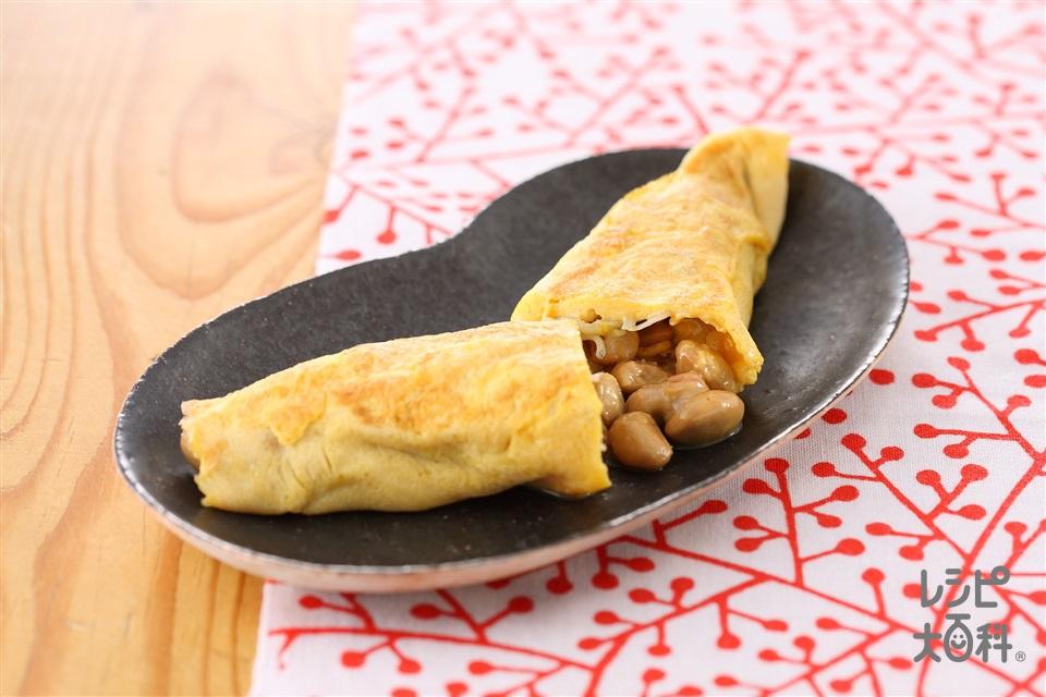 納豆じゃこオムレツ(卵+納豆を使ったレシピ)