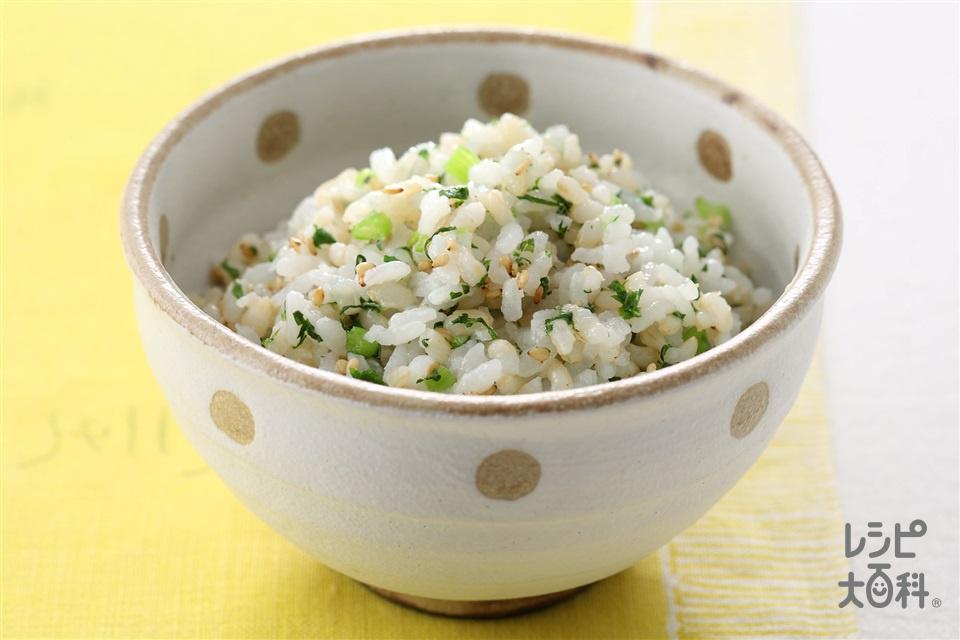 発芽玄米の菜めし