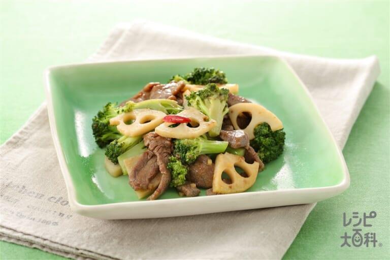 牛もも肉と野菜の炒め蒸し