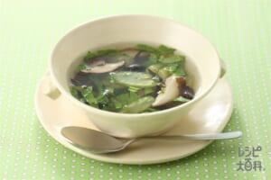きくらげとセロリのスープ