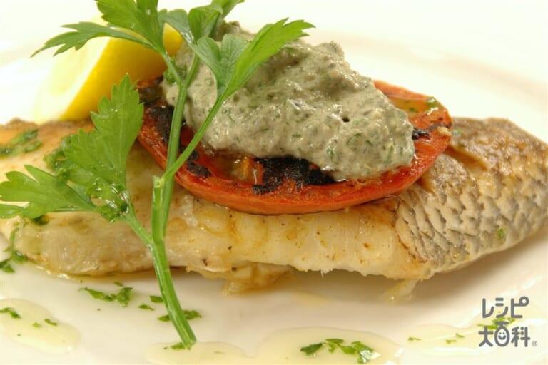 白身魚のまろやかタプナードソース