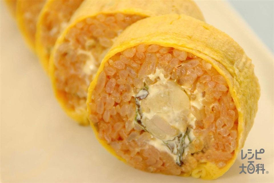 チキンライス巻き(ご飯+鶏もも肉を使ったレシピ)