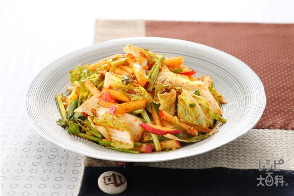 白菜サラダキムチ(白菜+せりを使ったレシピ)