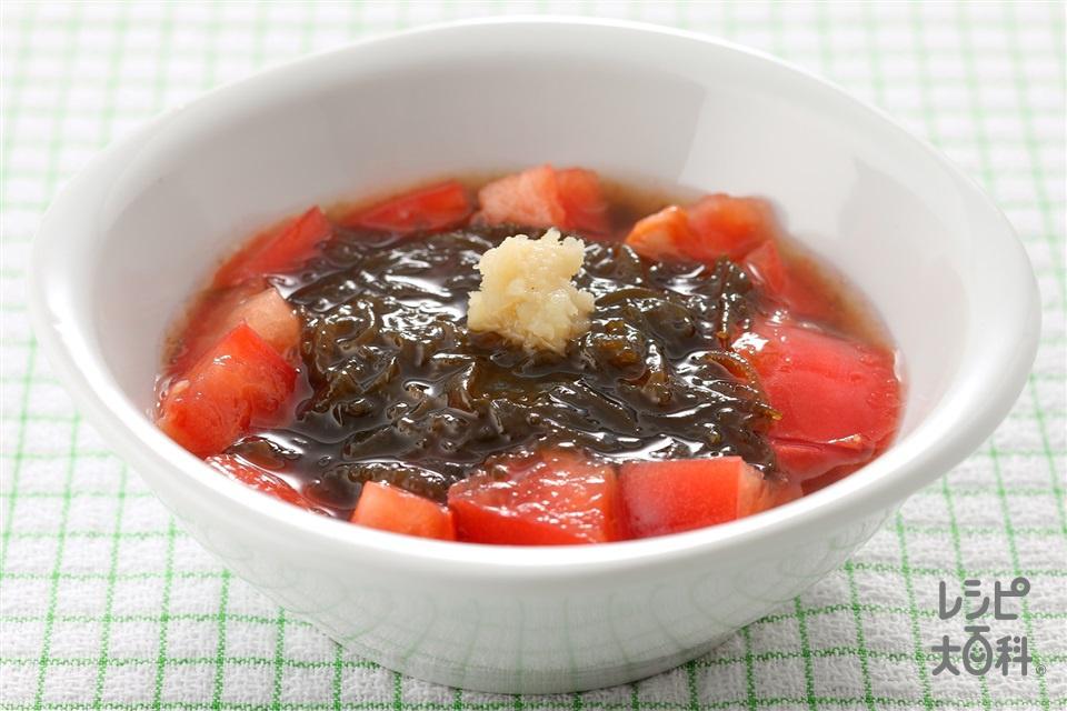 もずく酢トマト(もずく+トマトを使ったレシピ)