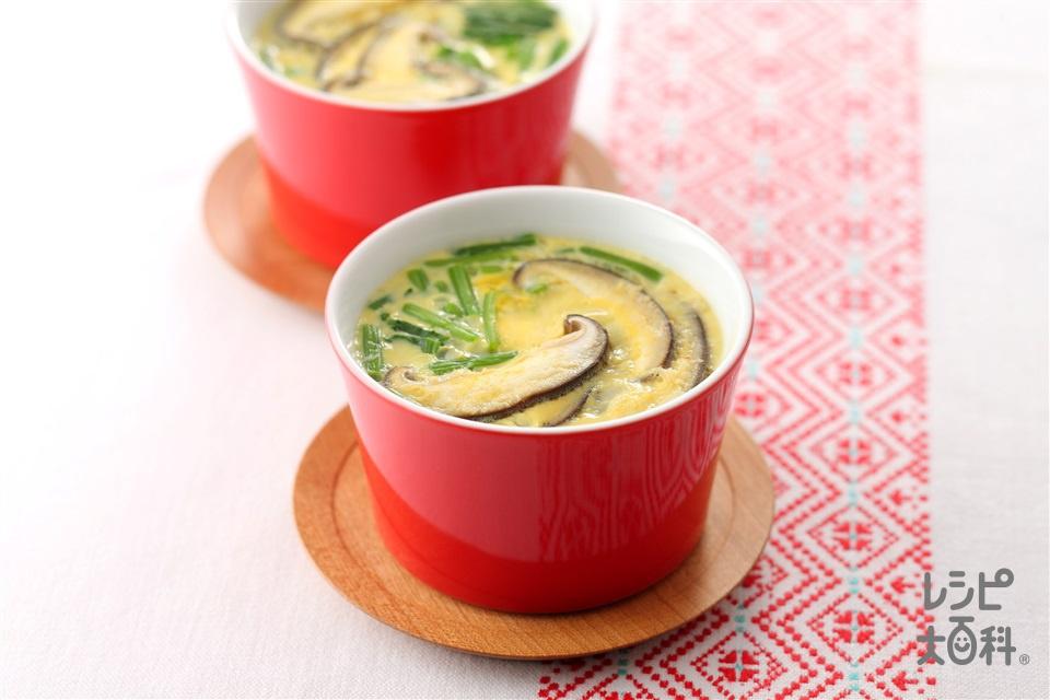 中華風茶碗蒸し(かに缶+ほうれん草を使ったレシピ)