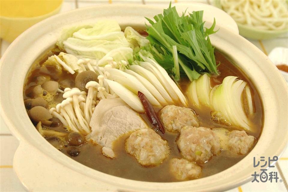 カレー鍋(白菜+ゆでうどんを使ったレシピ)