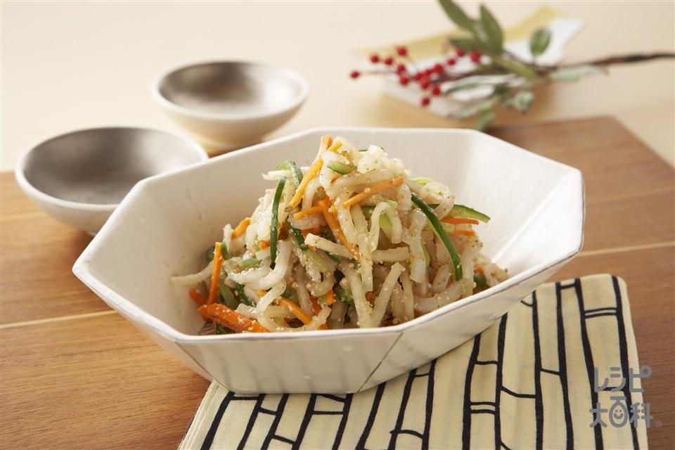 いかと野菜のごま酢あえ(やりいか+大根を使ったレシピ)