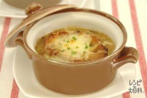 白菜のオニオングラタン風スープ(白菜+玉ねぎを使ったレシピ)