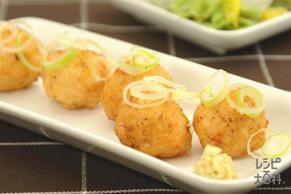 ふわふわ海鮮ボール(いか+むきえびを使ったレシピ)