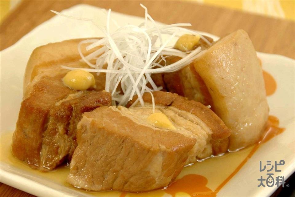 豚の角煮(豚バラかたまり肉+Aねぎの青い部分を使ったレシピ)