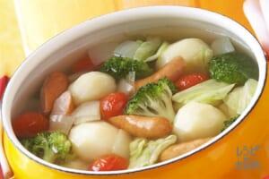 ざくざく野菜のカラフルスープ