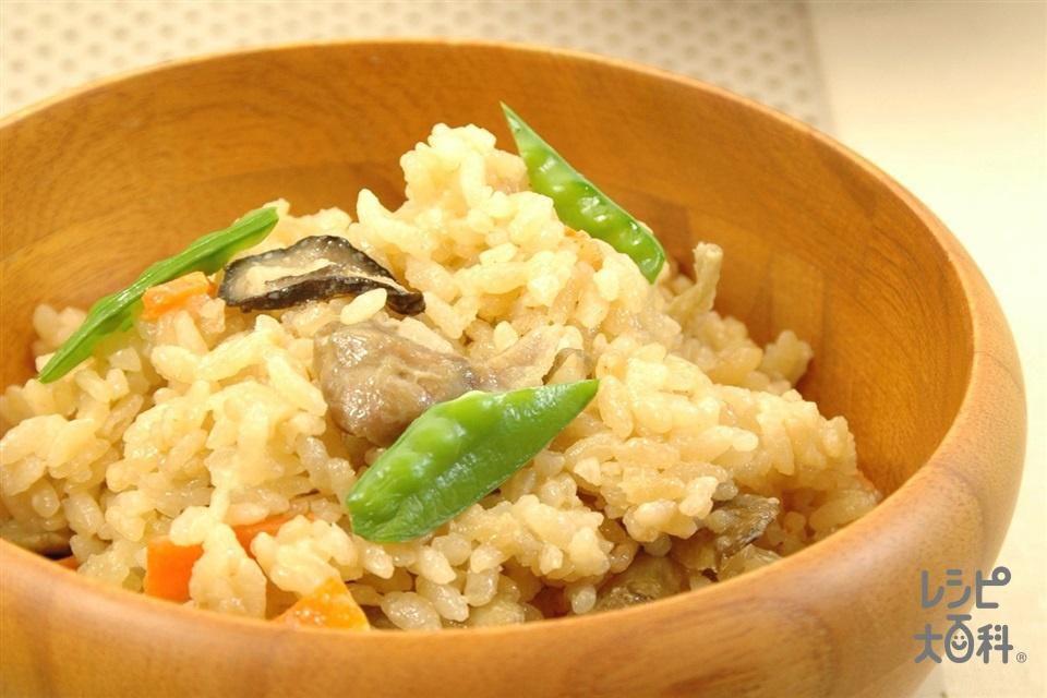 和風マヨネーズピラフ(米+鶏もも肉を使ったレシピ)