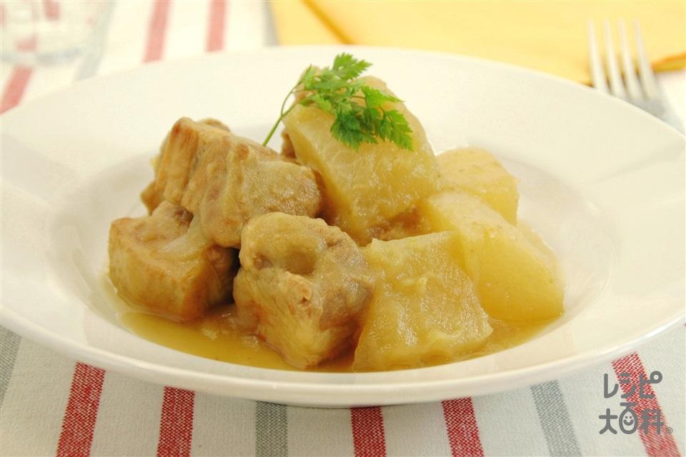 大根と豚肉のりんご煮(大根+豚バラかたまり肉を使ったレシピ)