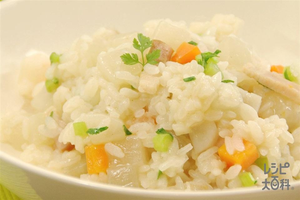 根菜の和風リゾット(大根+ご飯を使ったレシピ)