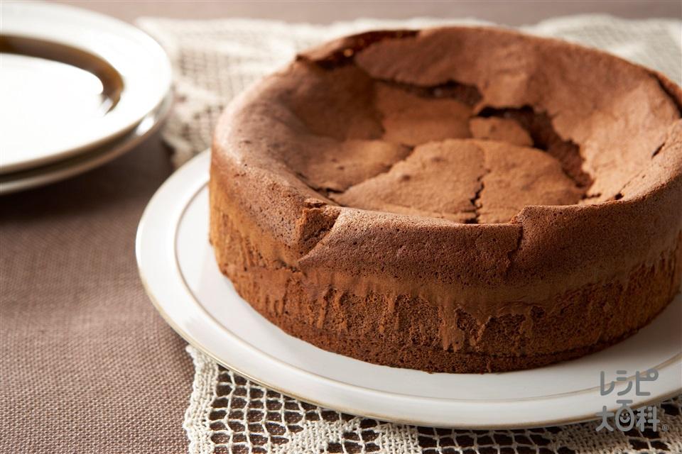 しっとりチョコケーキ(卵白+砂糖を使ったレシピ)