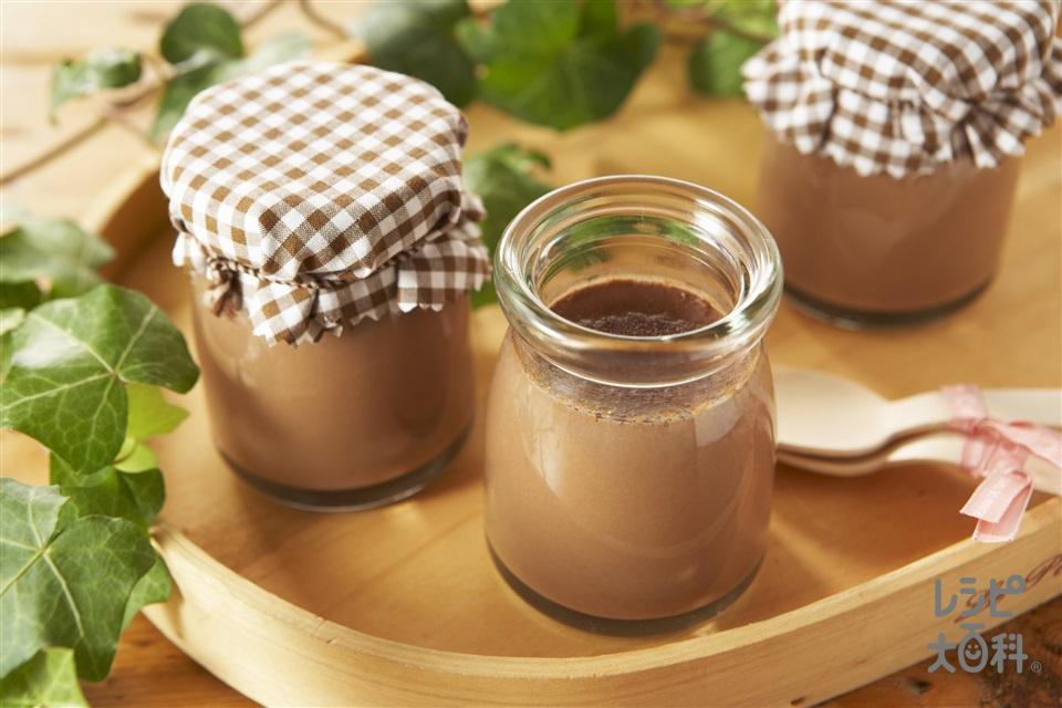 ミルクチョコプリン(牛乳+卵を使ったレシピ)