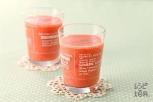 赤いジュース(いちご+トマトを使ったレシピ)