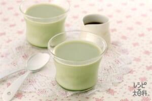 抹茶の豆乳プリン