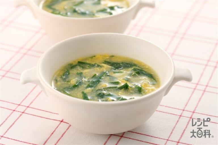 にらと卵のとろとろスープ