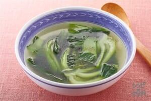 チンゲン菜のにんにくスープ