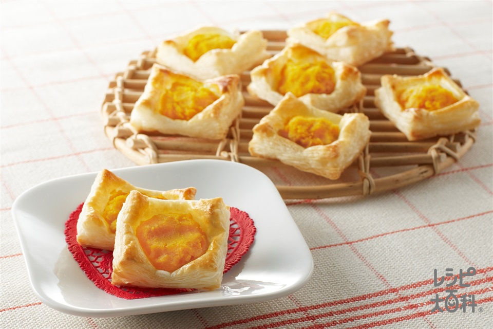 パンプキンパイ(かぼちゃ+卵黄を使ったレシピ)
