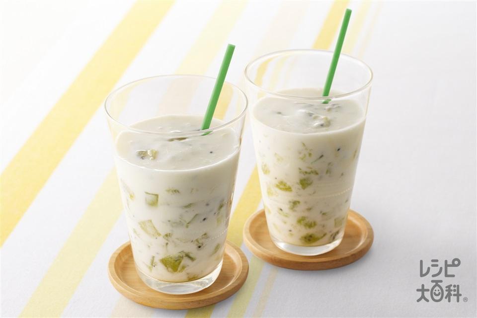 ヘルシーキウイヨーグルトジュース(プレーンヨーグルト+牛乳を使ったレシピ)