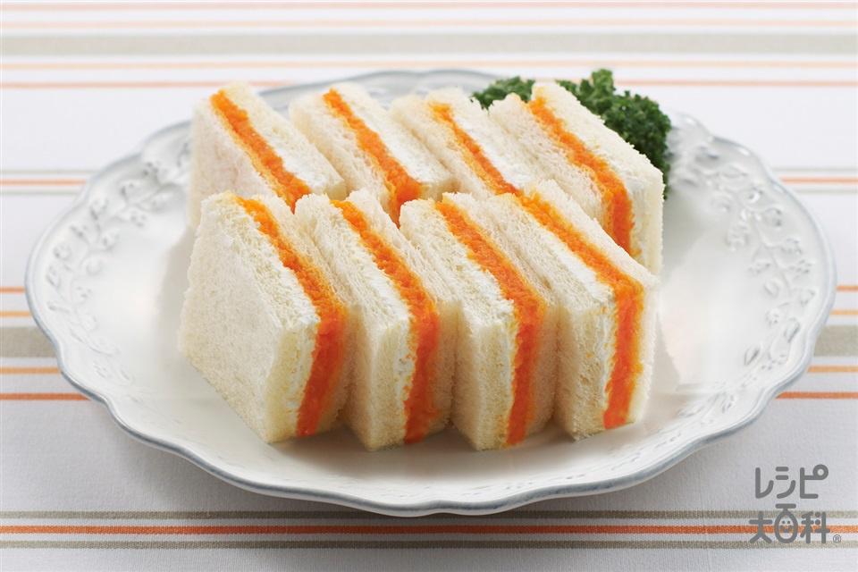 にんじんジャムとチーズのサンドイッチ(サンドイッチ用食パン+にんじんを使ったレシピ)