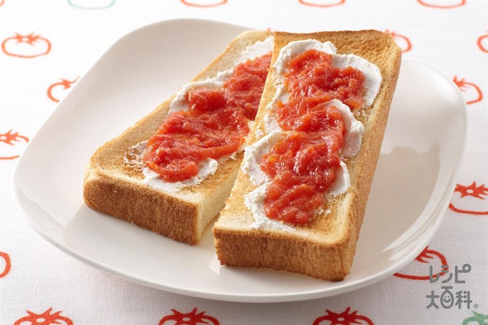 トマトチーズトースト(トマト+「パルスイート」を使ったレシピ)