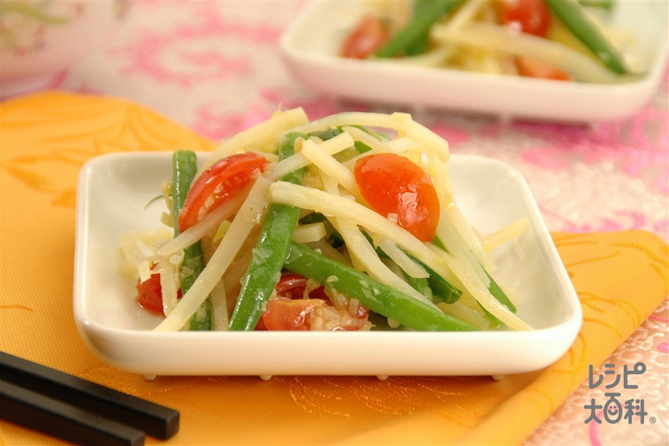 じゃがいもといんげんのチャイニーズサラダ (じゃがいも+さやいんげんを使ったレシピ)