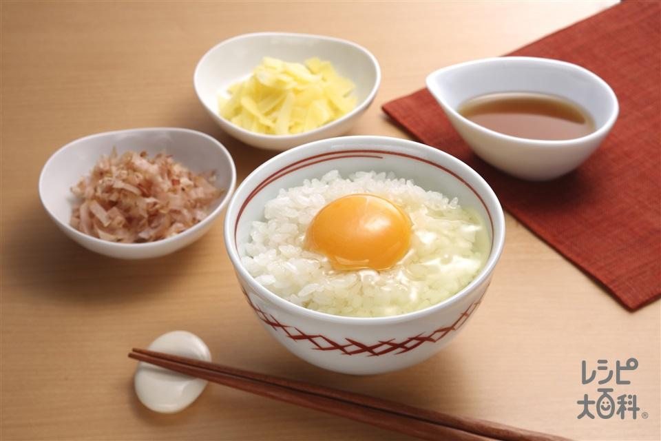 簡単アレンジ卵かけご飯(卵+炊きたてご飯を使ったレシピ)