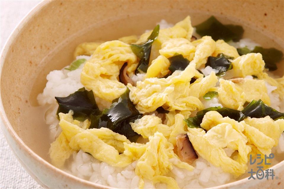 雑炊風たまごスープかけごはん(ご飯を使ったレシピ)