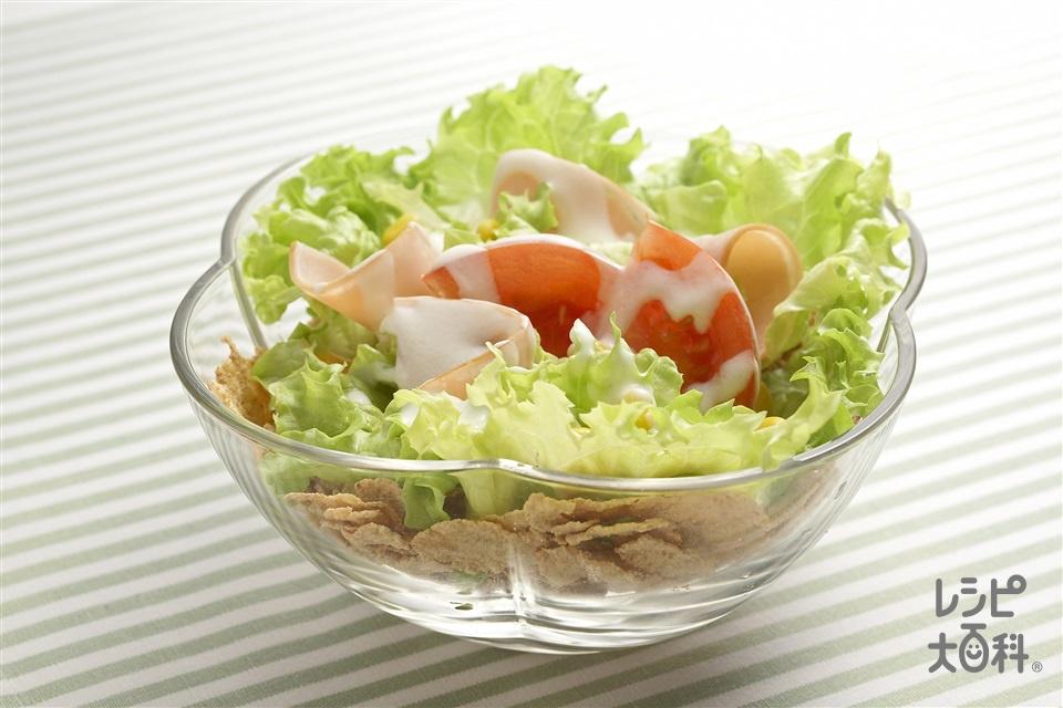 サラダシリアル(レタス+トマトを使ったレシピ)