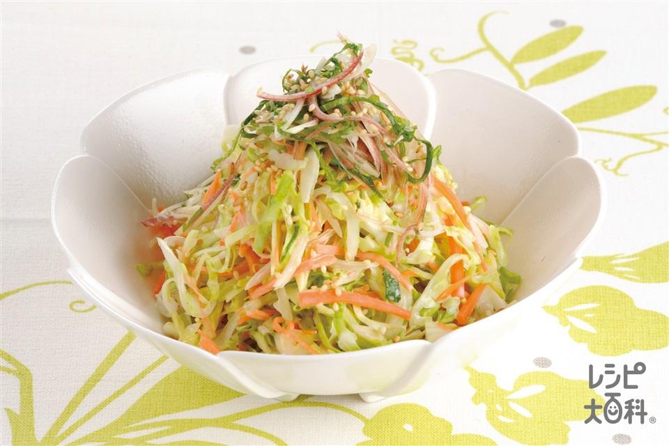 和風コールスローサラダ(キャベツ+玉ねぎを使ったレシピ)
