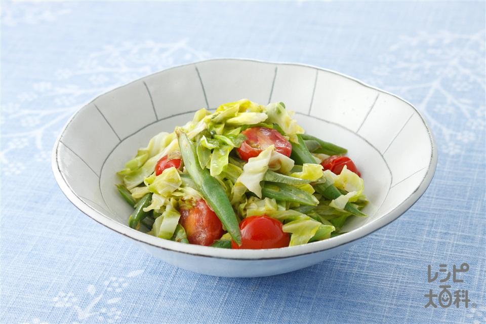 即席炒めコールスロー(キャベツ+さやいんげんを使ったレシピ)