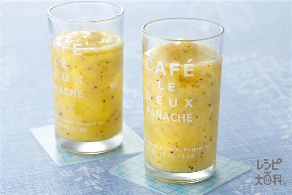 キウイとオレンジのスムージー(キウイ+オレンジを使ったレシピ)