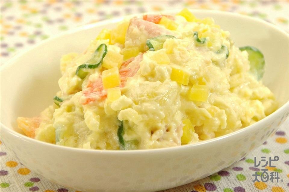 つけものポテトサラダ(じゃがいも+ロースハムを使ったレシピ)