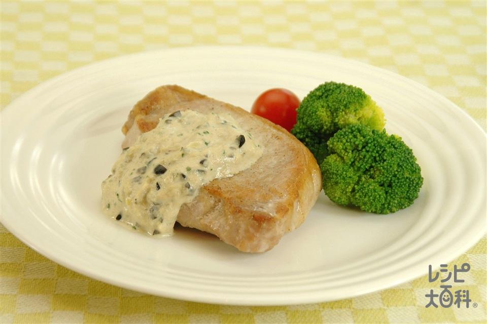ポークソテーツナマヨソース(豚ロース肉+ブロッコリーを使ったレシピ)