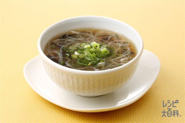 春雨とひじきの中華スープ