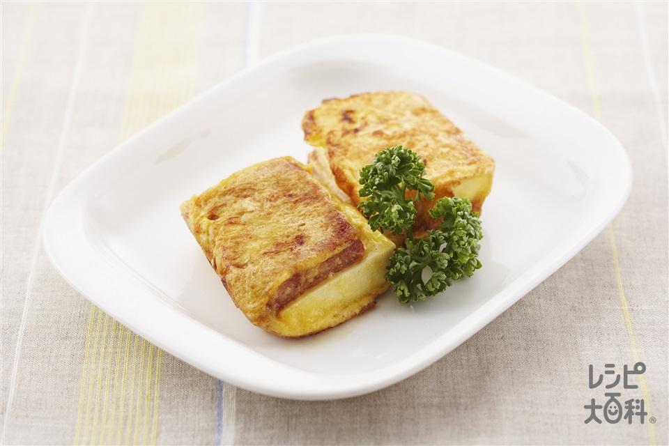 豆腐とコンビーフのピカタ(木綿豆腐+卵を使ったレシピ)