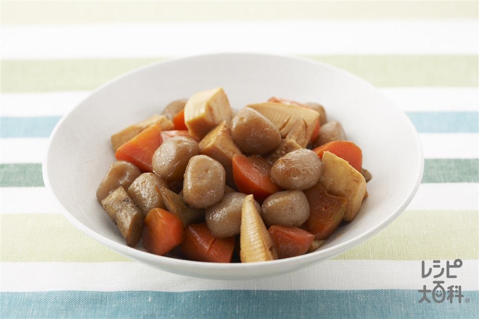 春野菜の甘辛煮(ゆでたけのこ+玉こんにゃくを使ったレシピ)