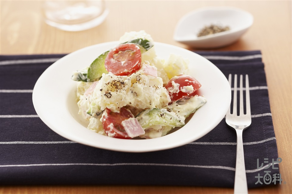 彩り野菜のポテトサラダ(じゃがいも+ミニトマトを使ったレシピ)