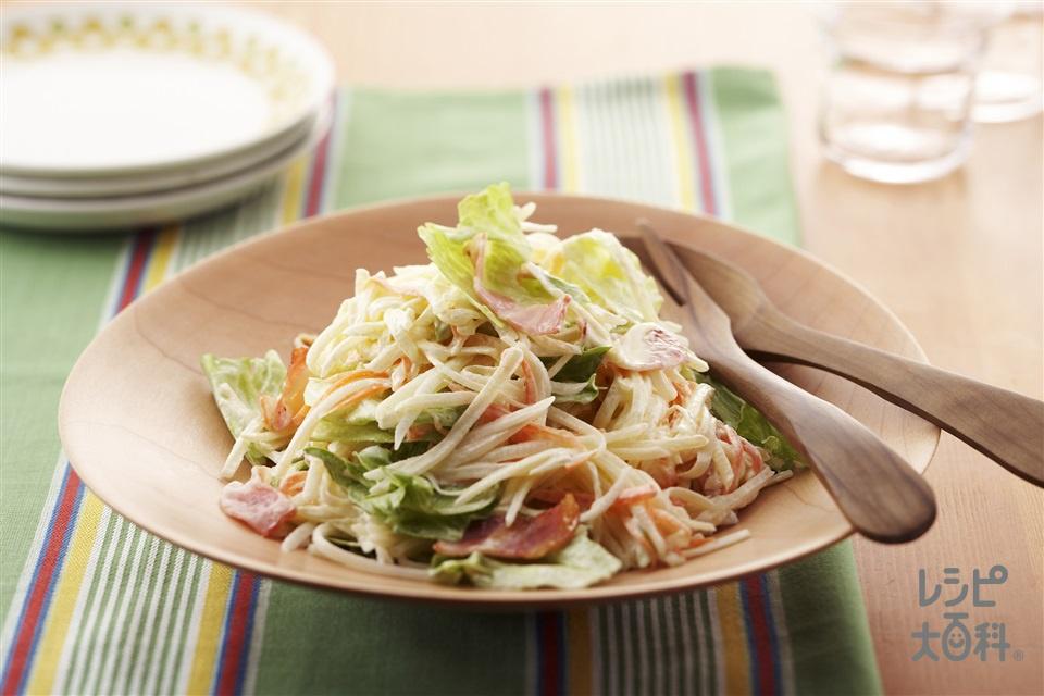 高原野菜のポテトサラダ(じゃがいも+レタスを使ったレシピ)