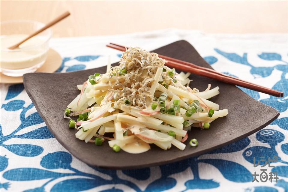香ばしじゃこのねぎポンポテトサラダ(ちりめんじゃこ+じゃがいもを使ったレシピ)