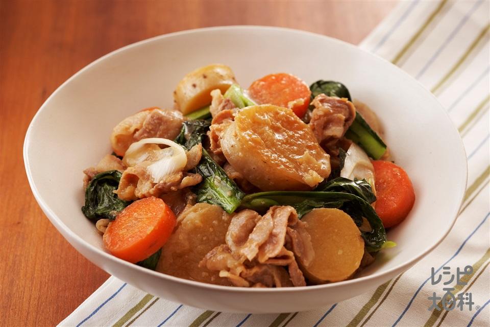 ほくほく長いも 味噌だし煮込み(長いも+豚バラ薄切り肉を使ったレシピ)