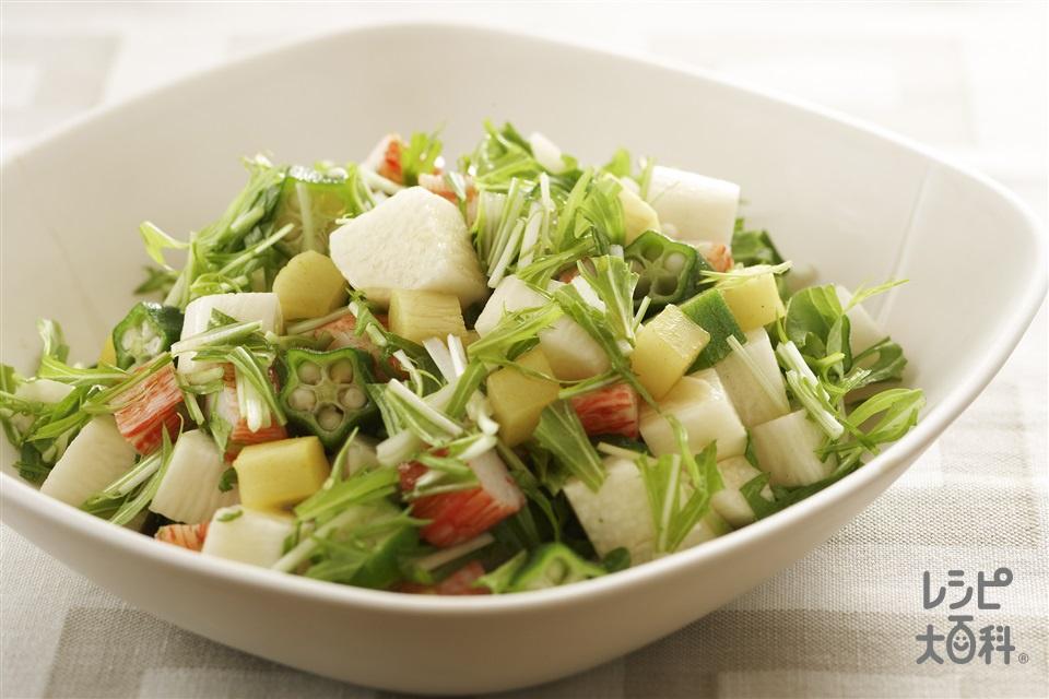 長いもの和風サラダ(長いも+水菜を使ったレシピ)