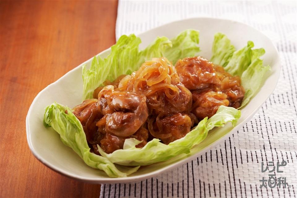 鶏肉とたまねぎのだしうま煮(鶏もも肉+A酒を使ったレシピ)